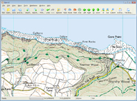 england 25K explorer OS maps mapping software