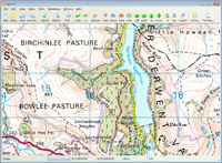 england 50K Landranger OS mapping software