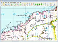 wales 50K Landranger OS mapping software