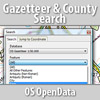 OS Gazetteer & County Search